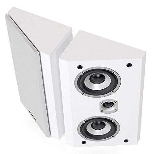DYNAVOICE - Pareja de Altavoces de estantería, pared, techo. Idóneos para Dolby Atmos. Ref.: Magic FX-4 v.3. Blanco.