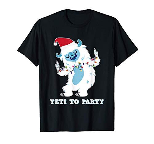 Yeti To Party I Bigfoot Senderismo Fiesta De Diversión En La Camiseta