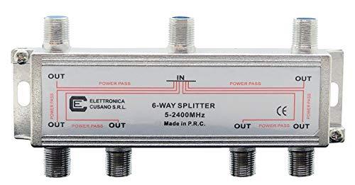 Preisvergleich Produktbild 6633 - Splitter / 6-Wege-Verteiler für Tv / Sat
