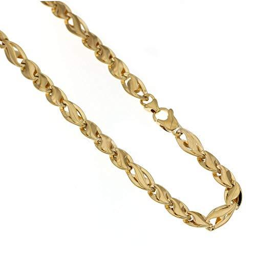 Collana In Oro Giallo 18kt 750/1000 Catena Vuota Finitura Lucida Da Uomo
