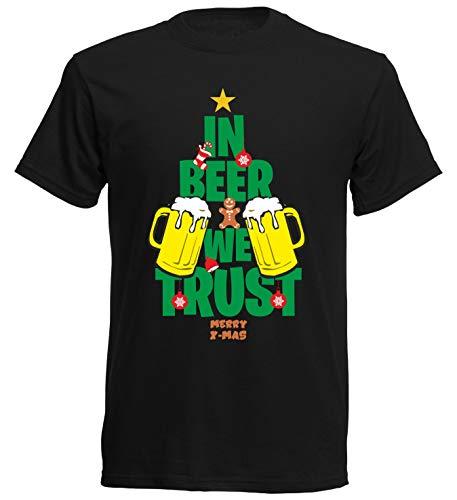 aprom T-Shirt Tannenbaum Weihnachten Gruppenkostüm SC Bier (M)