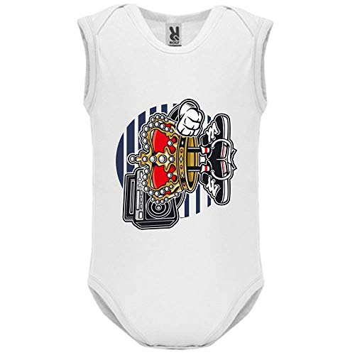 Body bébé - Manche sans - Street King - Bébé Garçon - Blanc - 18MOIS