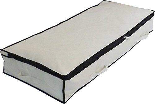 Neusu Bolsa De Almacenaje Reforzada Debajo Cama, Medio 105x45x15cm 70 Litros, Beige