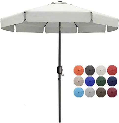 MasterCanopy 270cm Sonnenschirm Fe-Al Market Tischschirm im Freien mit 8 stabilen Rippen,beige
