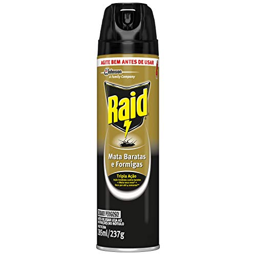 Inseticida Raid Mata Baratas e Formigas Spray 285ml