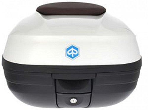 Topcase Kit Medium Piaggio MP3 500 weiß 505A (37 Liter) braune Lehne