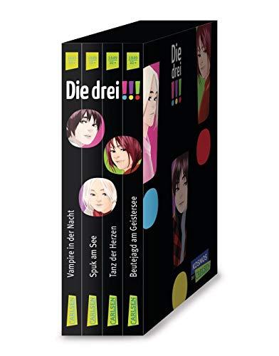 Die drei !!!: 4 Bände im Schuber (Spuk am See, Vampire in der Nacht, Tanz der Herzen, Beutejagd am Geistersee)