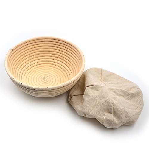 Angelakerry Bortform Levar masas cesta de mimbre pan Oval la