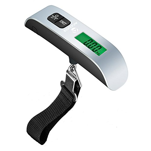 Accuoz Digital Luggage Scale w/LCD Backlight Portable Best for Travel (Black)