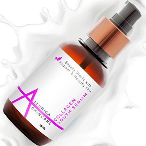 Collagen Facial Serum with Vitamin C, Best Anti-Aging Collagen Peptide Face Serum to Reduce Wrinkles 30ml