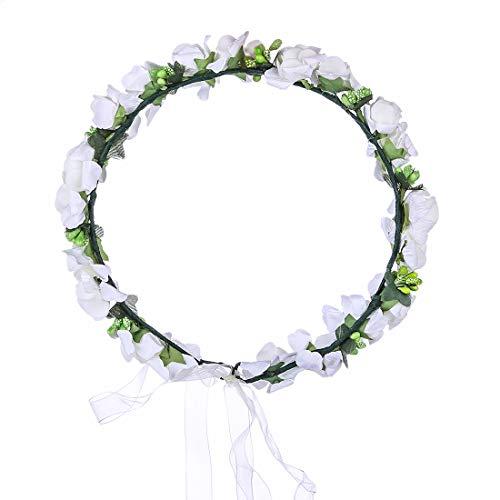 NNM LIZIQI Blumenkranz Haare Blumenhaarreif Haarband Blumen Haarkranz Blumenkrone Blumenhaar Haarschmuck für Mädchen Karneval Braut Hochzeit
