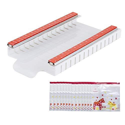 Wenhe Bolsa de almacenamiento reutilizable con soporte autoadhesivo para frigorífico, organizador de cocina para embalaje, transparente