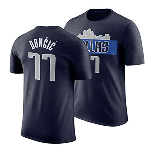 YCJL Camiseta De Baloncesto Doncic # 77 Camiseta Retro Camiseta NBA Camiseta Deportiva Traje De Entrenamiento De Manga Corta,Negro,L:170~175cm