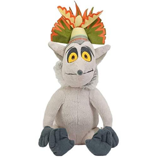 Makfacp Peluche El Rey Julián de Madagascar. Divertido muñeco de Peluche narcisista Cola de lémur Rey muñeco de Peluche Regalo de cumpleaños 30 cm