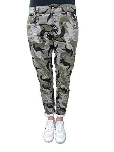 Karostar by Lexxury Denim Elasticizzato Baggy-Boyfriend-Jeans Boyfriend 4 Bottoni Aperto con Bottoni Altri Colori - Camouflage, M