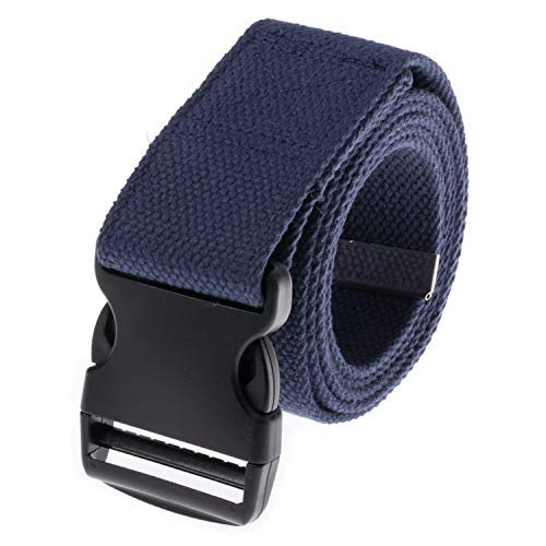 COW&COW Gait Belt 72inch - Transfer and Walking Assistance with Quick Release Buckle for Caregiver Nurse Therapist 2 inches(Navy Blue)