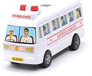 Centy Toys Mini Ambulance Pull Back Bus (Multicolor)