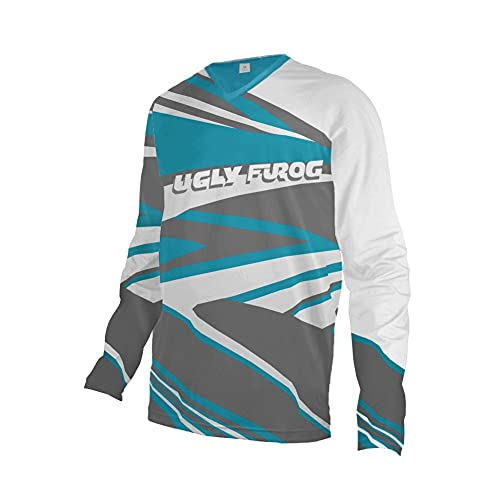 UGLY FROG Fahrradbekleidung Winter Fleece Warm Element Jung Mode MX Jersey Shocker Farbe Motocross Enduro Cross Motorrad Downhill Shirt Langarm Motorräder Schutzkleidun Innen