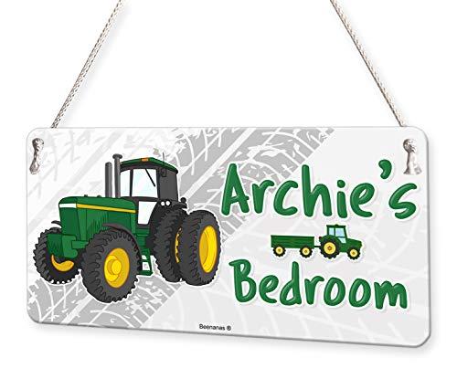 Beenanas Tractor Farm Personalised Childs Bedroom Door Sign Name Plaque