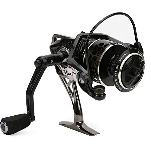 T best Spinning Reel, Metal Right/Left Interchangeable Spinning Fishing Reel Saltwater Bait Casting Reel Wheel Fishing Tackle(GTS 4000)