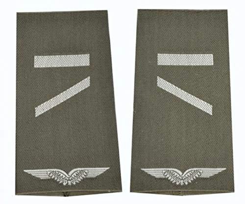A.Blöchl Bundeswehr Luftwaffe Rangschlaufen Oliv - Silber (Gefreiter UA)