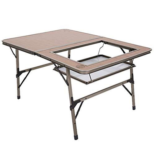 QILIN Mesa de picnic plegable al aire libre mesa plegable portátil de aluminio hogar mesa de comedor auto conducción barbacoa mesa
