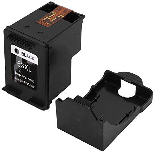 Cartucho de tinta, cartucho de tinta de impresora, impresora sin pérdidas con tinta de alta calidad delicada para reemplazo (nueva versión 63XL negro)