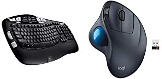 Logitech K350 Wireless Keyboard and M570 Wireless Trackball