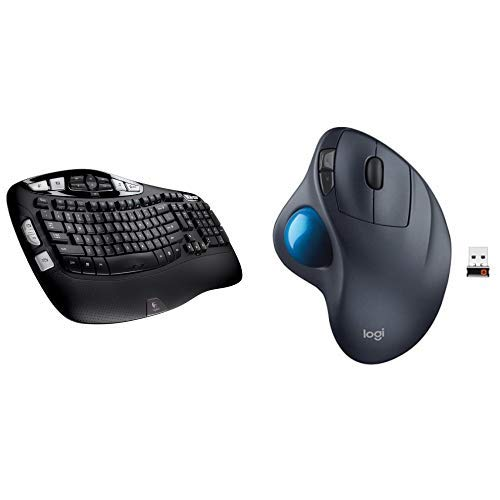 Logitech K350 Wireless Keyboard and M570 Wireless Trackball