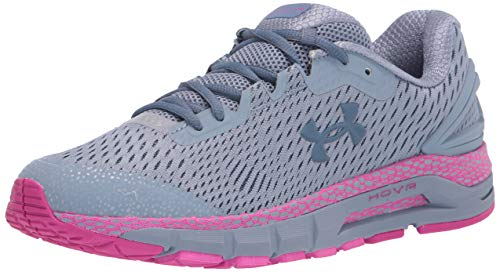 Under Armour Women's HOVR Guardian 2 Running Shoe, Washed Blue (403)/Meteor Pink, 8