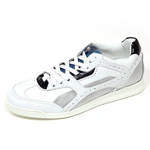 D0152 Sneaker Uomo DSQUARED2 Lucky Scarpa Bianco/avio/Nero Shoe Man [40]