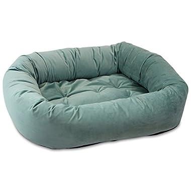 Oliver & Iris Bolster Donut Lounge Dog Bed, Large, Caribbean Blue