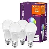 LEDVANCE Smart+ LED, ZigBee Lampe mit E27 Sockel,warmweiß bis tageslicht,Farbwechsel RGB, dimmbar,Direkt kompatibel mit Echo Plus und Echo Show (2. Gen.), Kompatibel mit Philips Hue Bridge, 4er Pack