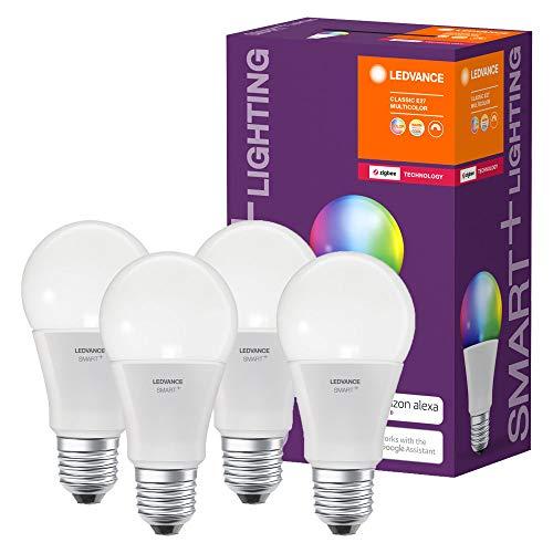 Ledvance Smart Lampadina LED Zigbee, Goccia, E27, 60 W Equivalenti, Luce Colorata RGBW