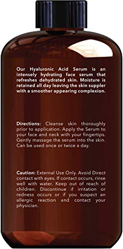 41lGdKyjeBL - New York Biology Hyaluronic Acid Serum with Vitamins A and C - HUGE 4 oz - Professional Strength Anti Aging Face Serum Improves Skin Texture and Moisturizes Skin