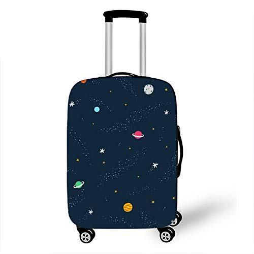Trolley Case Protective Cover, DOTBUY 3D Print Premium Travel Suitcase Protector Elastic Anti-Scratch Dustproof Luggage Sleeve Cover Elasticized Washable (Universe Galaxy,L (26-28 inches))