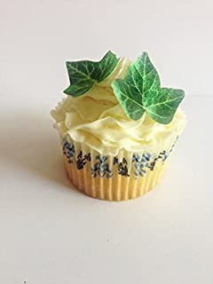 Edible Ivy Leaves - Set of 24 - Cake and Cupcake Toppers, Decoration