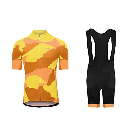 Uglyfrog Traje de Ciclismo de Verano Ropa para Hombre - Un Conjunto de Ciclismo Jersey Maillot y Culotte Pantalones Cortos DTML02
