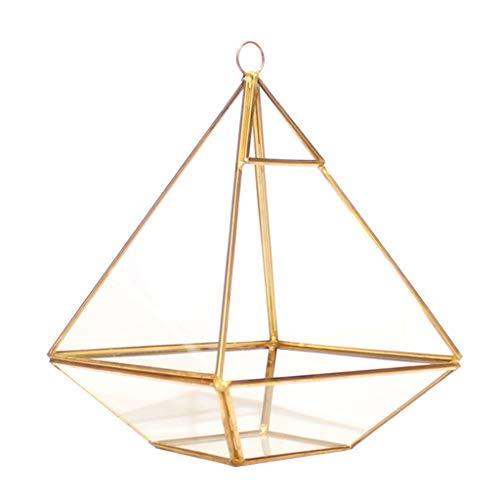 KJ-KUIJHFF Soportes de exhibición de joyería para espectáculos, joyería decorativa pecho geométrica terrario geométrico diamante escritorio jardín plantador