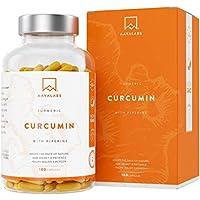 Suplemento de Cúrcuma - Tumérico - Curcumina [ 4230 mg ] 180 Cápsulas Vegetales - Sin Estearato de Magnesio - Con 95% de Extracto de Curcumina y Piperina - Potente Antiinflamatorio y Antioxidante