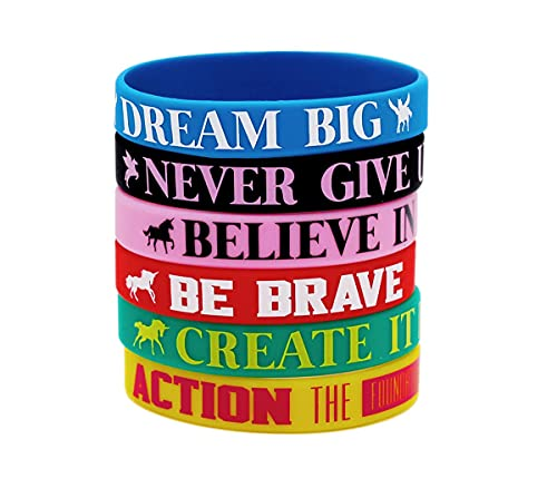 Rubber Wristbands Inspirational Silicone Bracelets, Personalized Silicone Wristbands Rubber, Style Party Favors and Supplies, Inspirational Silicone Bracelets for Boy Girl and Kids Best Friends