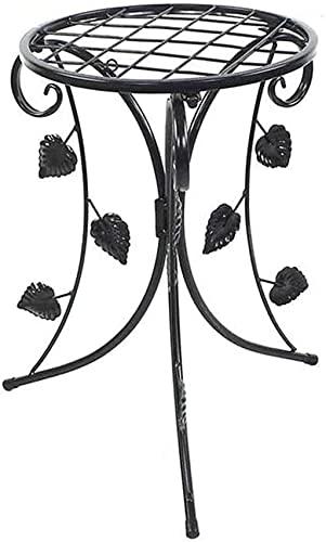 wsbdking Simplicidad moderna Moderno Planta plegable Soporte Planta Pot Pot Rack Metal Negro Titular de plantador para jardín Patio Decoración Pantalla Pantalla Hierba Bonsai Estante al aire libre par