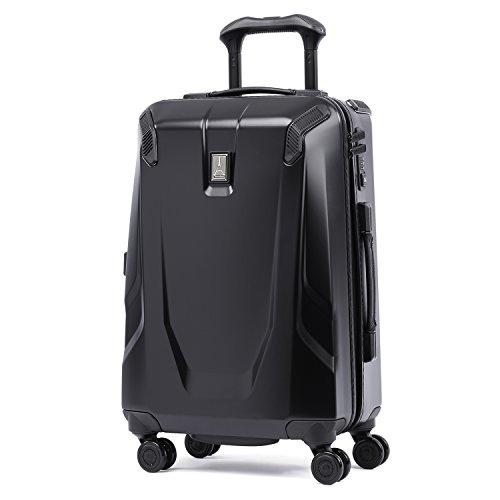 Travelpro Luggage Crew 11 21' Carry-on Slim Hardside Spinner w/USB Port, Obsidian Black/Blue Interior