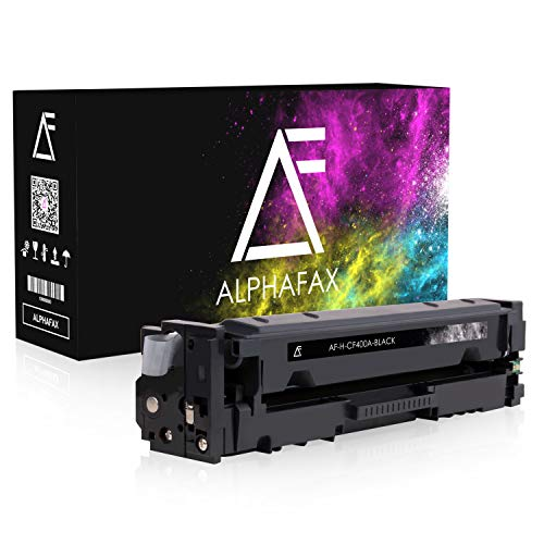 Alphafax Toner kompatibel mit HP CF400A für HP Laserjet Pro MFP M277dw, Laserjet Pro MFP M277n, Laserjet Pro M252dw, Laserjet Pro M250 Series - 201A - Schwarz 1.500 Seiten