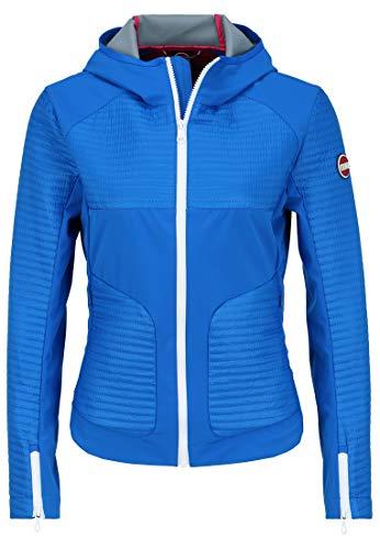 COLMAR Chaqueta acolchada para mujer con logotipo avanzado azul 44 EU