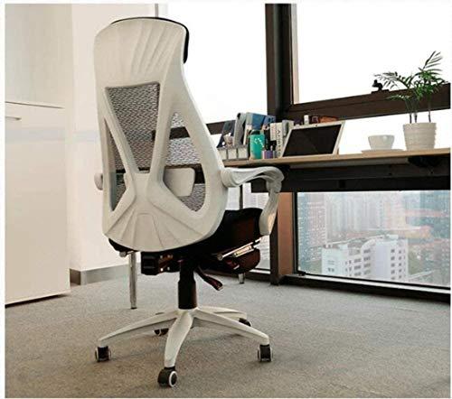 HOLPPO-Desk Las sillas de Escritorio Silla Silla de la computadora de sillón reclinable Silla de Oficina en casa (Color : Negro)