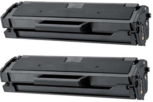 Prestige Cartridge MLT-D101S Pack de 2 Cartuchos de tóner láser compatibles para Samsung ML-2160 ML-2165W ML-2168 SCX-3400W SCX-3405 SCX-3405FW SCX-3405W SCX-3405F SF-760 SF-760P ML-2164W ML-2165