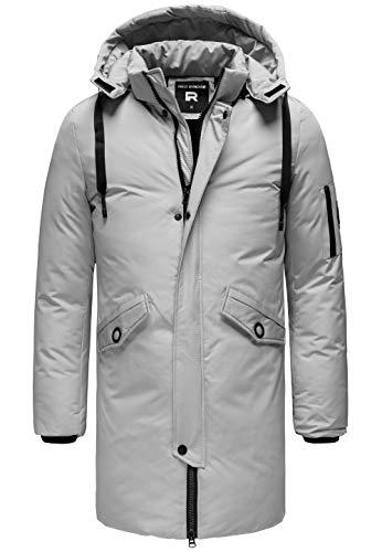 Redbridge Herren Parka Jacke Mantel Winterjacke Long Basic mit Kapuze Weiß XXL