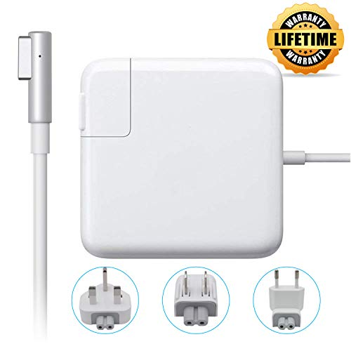 60W Compatible with MacBook Pro Charger, MacBook Air Charger, L-Tip Replacement Travel Plugs Bag, Magsafe 2 Magnetic L-Tip Power Adapter for Apple MacBook 13.3', 15' and 17 (Before Mid 2012 Models)