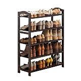 Hong Yi Fei-Shop Zapatero Bamboo Multi-Layer Shoe Rack Simple Rack de Zapatos económico Corredor Baño Almacenamiento Rack for el hogar Zapatero de Tela (Color : C, Size : M)